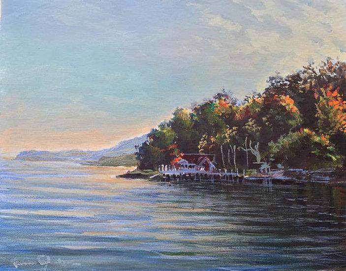 "Hudson River 12""x 14"""