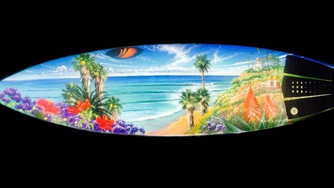 Original Art on your Surfboard