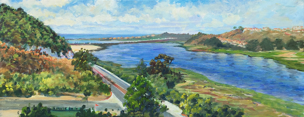 "A River Through Encinitas 16""x 40"""