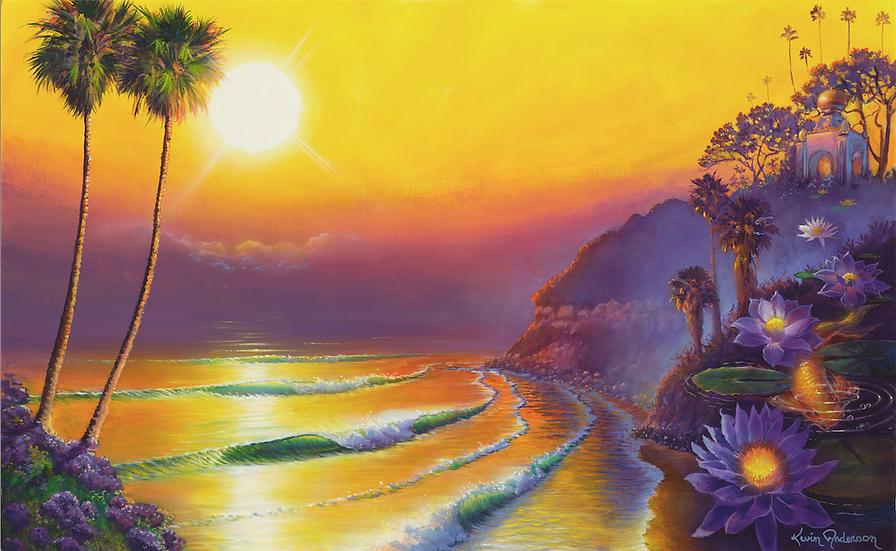 "Swami's Hazy Sunset  9""x 15"""