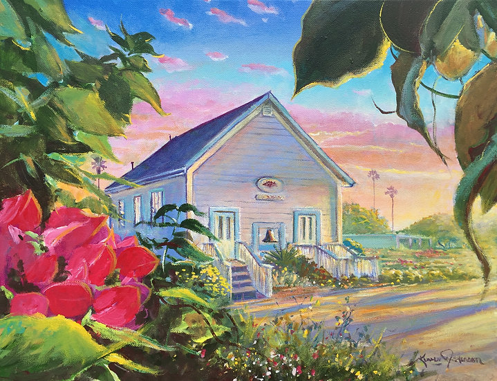 "Historic Encinitas - 1883 Schoolhouse 14""x 18"""