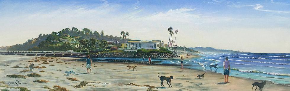 """Dog Beach Del Mar 20""""x 60"""""""