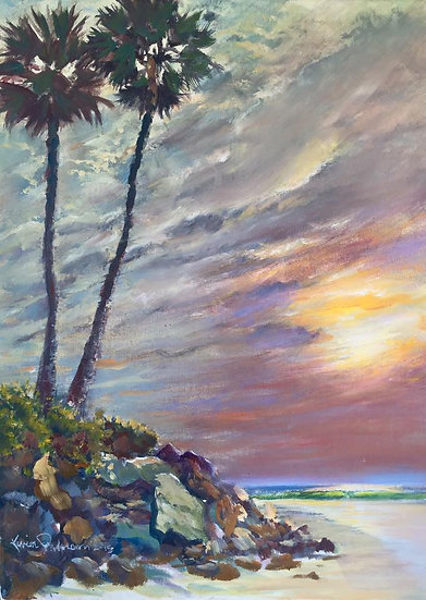 "Rivermouth-Palms 18""x 24"""