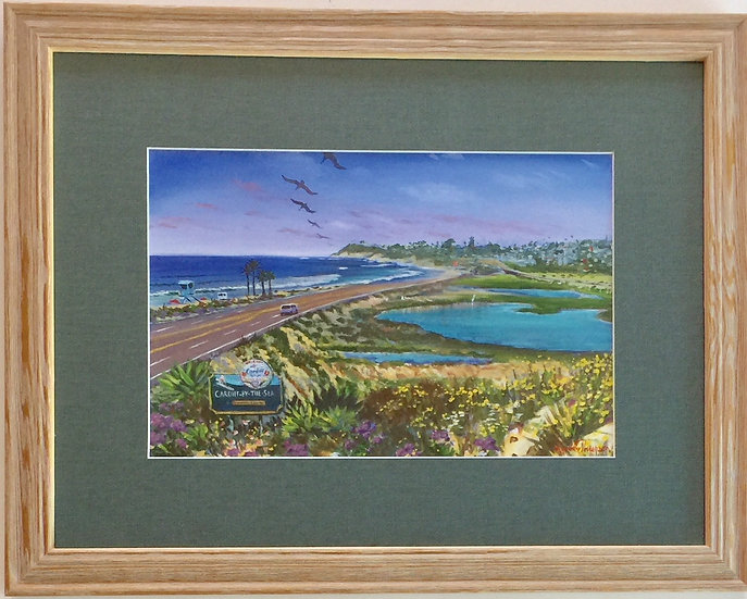 """Seaside Gateway"" with Custom Frame"