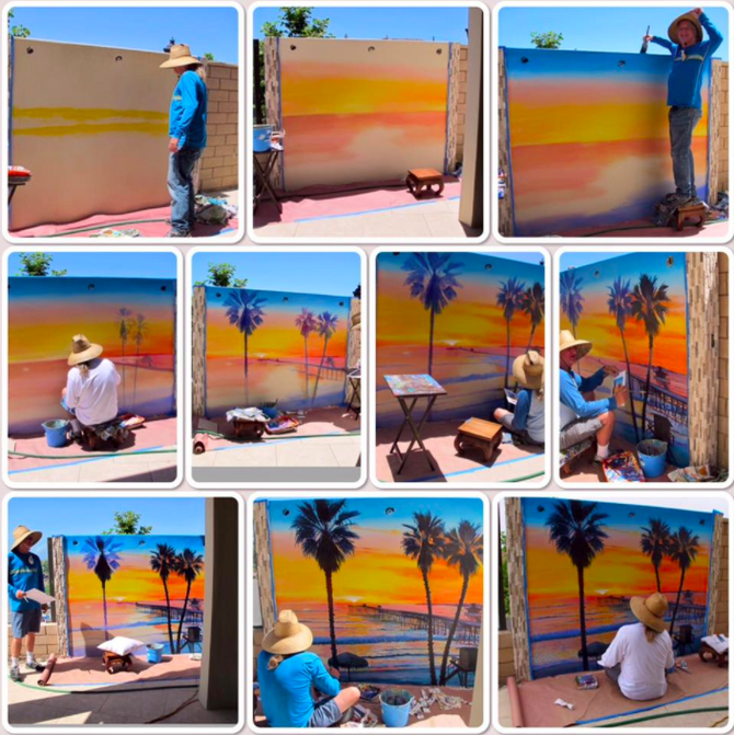 New Mural in progress / San Clemente