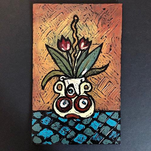 MOD TULIPS * Textured Art Card