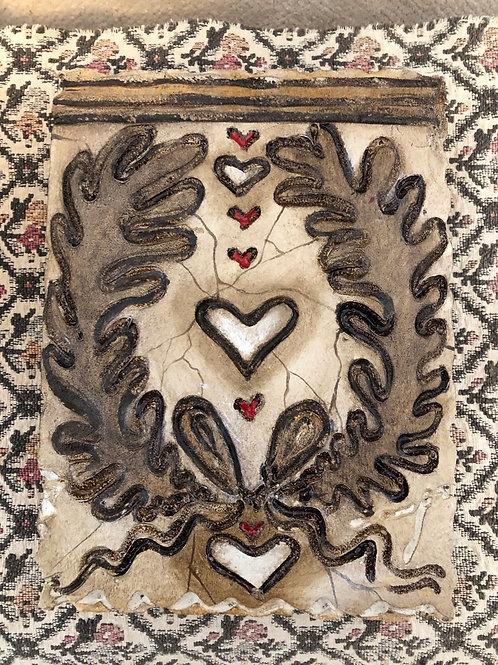 HEART WREATH * Artifact Plaque Love Series