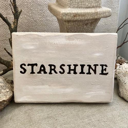 STARSHINE * Concrete Affirmations Plaque