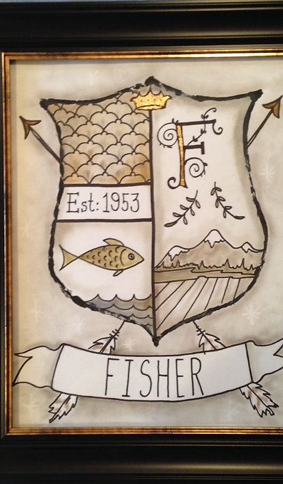 FRAMED CUSTOM FAMILY COAT OF ARMS