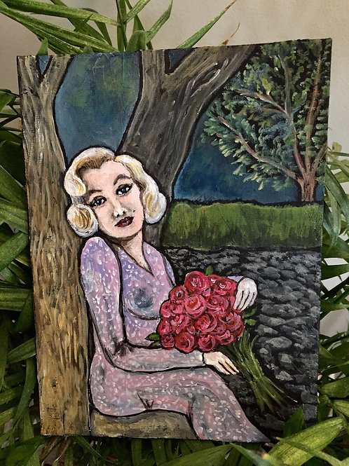 MARILYN IN LOVE * Mini Acrylic Painting