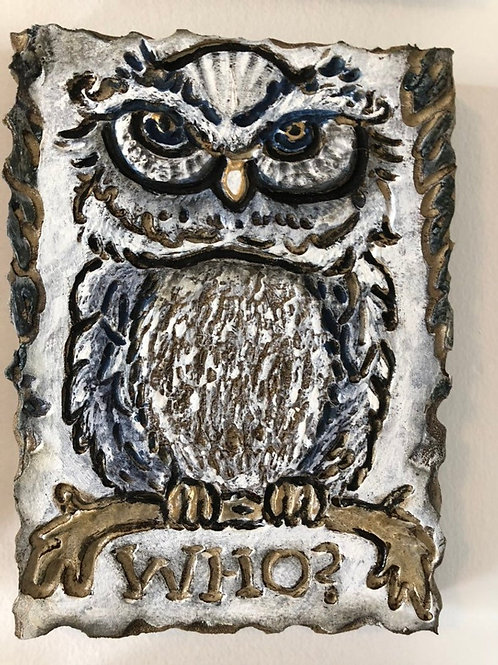 WHO OWL * Artifact Plaque White Series