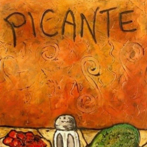 PICANTE SOLD ** BUY PRINTS TOTES TRAYS AND MORE