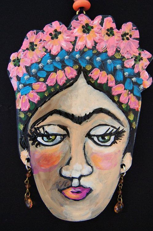 BLUE BRAID * Frida Kahlo Hanging Collectors Ornament