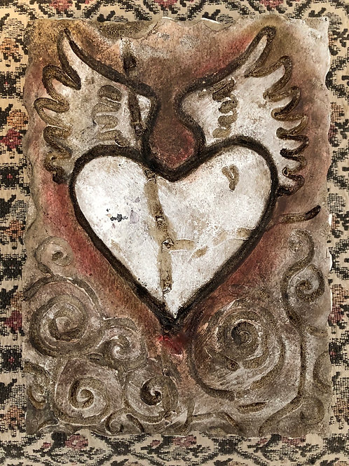 HEART AND WINGS  * Artifact Plaque Love Series