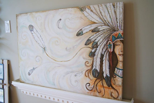 RIDE THE WIND * Boho Textured Painting