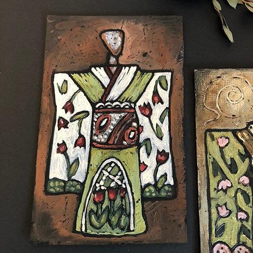 GARDEN KIMONO * Textured Art Card