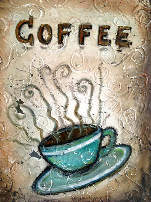 COFFEE TIME SOLD ** BUY PRINTS TOTES TRAYS AND MORE