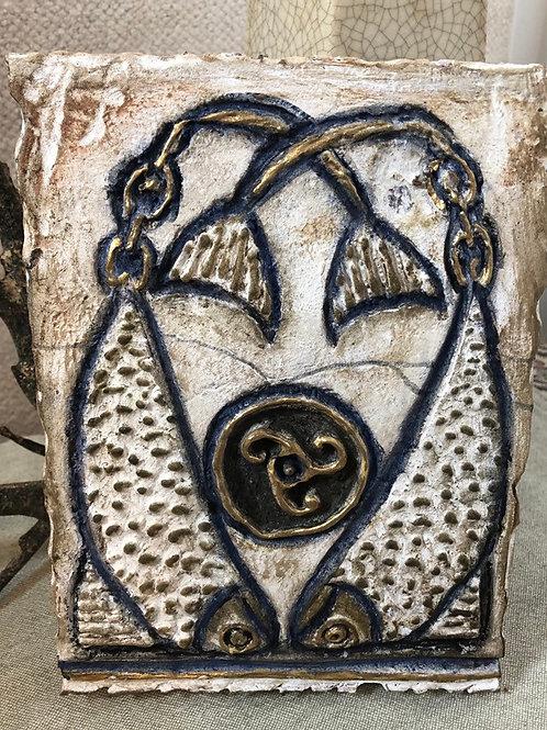 CELTIC SARDINE * Artifact Plaque White Series