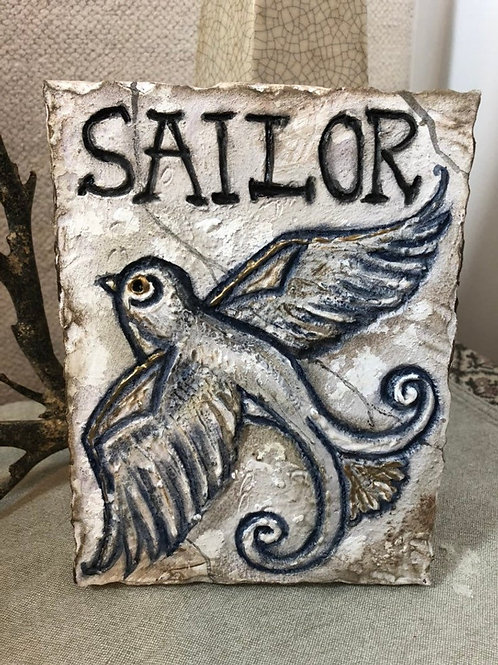 SAILOR * Artifact Plaque White Series