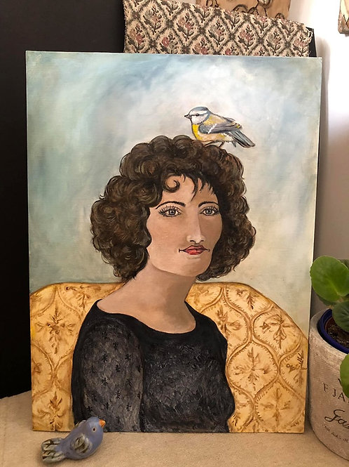 OLIVIAS BIRD * Vintage Style Oil Portrait