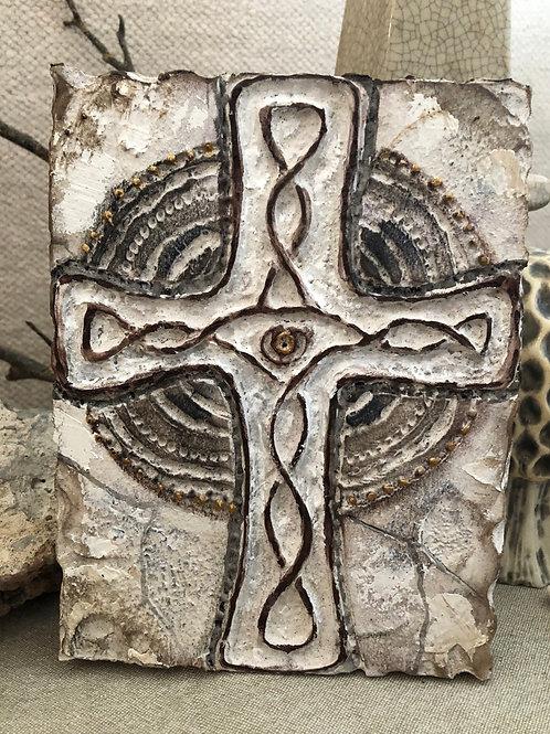 CELTIC CROSS * Artifact Plaque White Series
