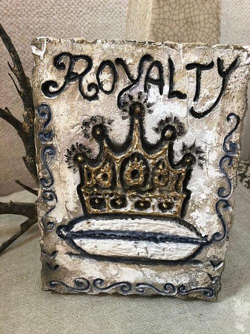 ROYALTY * Artifact Plaque White Series