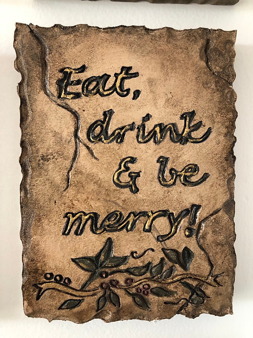 MERRY * Artifact Plaque Rustic