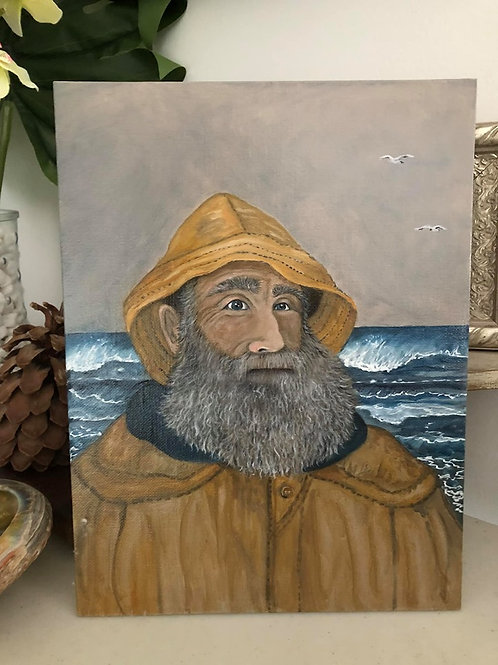 SAILOR SAM * The Fisherman Oil Painting