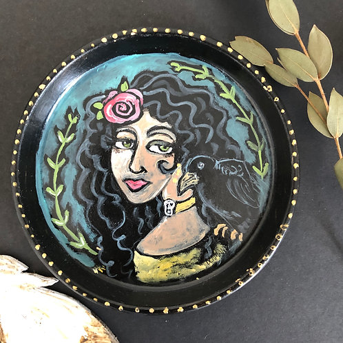 CARMEN ROSE AND RAVEN * Trinket Dish