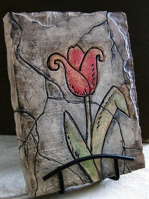 SPRING TULIP * Artifact Plaque