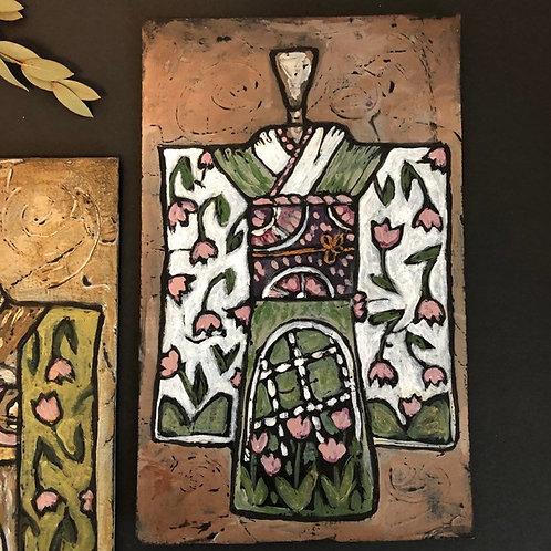 SAGE KIMONO * Textured Art Card
