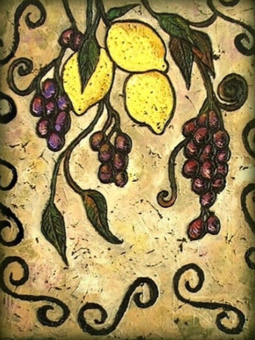 TUSCAN LEMONS SOLD ** BUY PRINTS TOTES TRAYS AND MORE