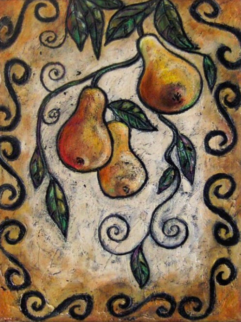 TUSCAN PEARS SOLD ** BUY PRINTS TOTES TRAYS AND MORE