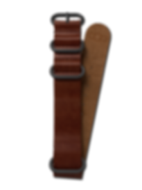Bussora Retro Pilot Leather ZULU Strap Marrone Cioccolato