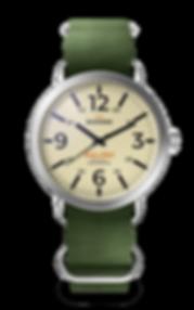 Bussora Retro Pilot Classico Verde Militare ZULU strap watch