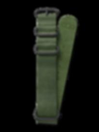 Bussora Retro Pilot Leather ZULU Strap Verde Militare