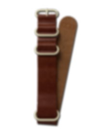 Bussora Retro Pilot Leather ZULU Strap Marrone Militare