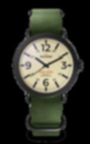 Bussora Retro Pilot Nero Verde Militare ZULU strap watch