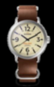 Bussora Retro Pilot Classico Marrone Cioccolato ZULU strap watch