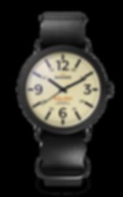 Bussora Retro Pilot Nero Nero di Carbone ZULU strap watch