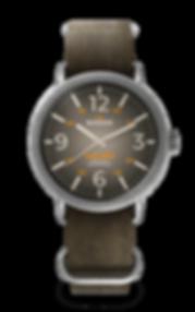 Bussora Retro Pilot Vintage Marrone Terra ZULU strap watch