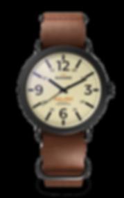 Bussora Retro Pilot Nero Marrone Cioccolato ZULU strap watch
