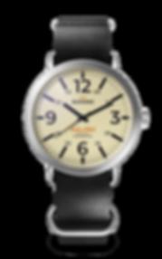 Bussora Retro Pilot Classico Nero di Carbone ZULU strap watch