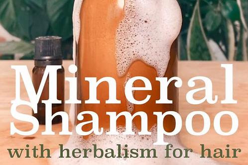 Mineral Shampoo & Glass Bottle