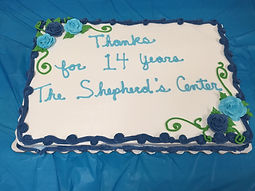 Larry Boudrie's farewell cake