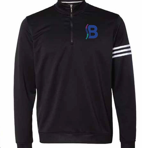 Adidas 3-Stripe Heathered 1/4 Zip