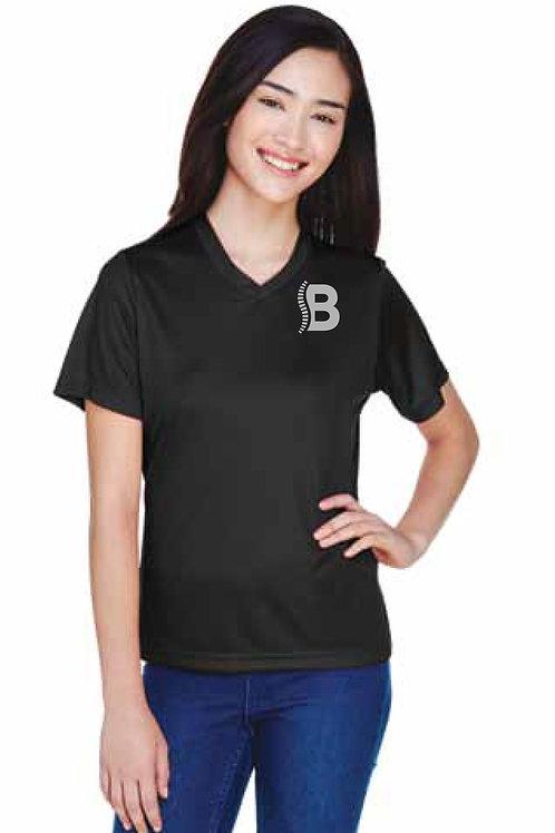 Team 365 Ladies Short Sleeve Reflective Logo