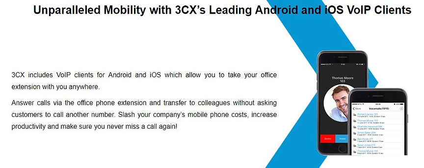 Unparalleled Mobility with 3CX Mobile Apps