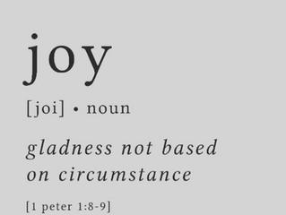 Choosing JOY over circumstance