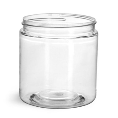 8oz PET Jar with white smooth lids